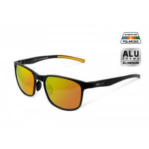 Ochelari de soare polarizati Delphin SG BLACK lentile portocalii