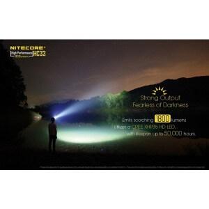 Lanterna frontala Nitecore HC33, 1800 lumeni