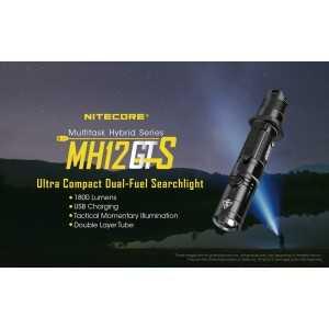 Lanterna Nitecore MH12GTS, 1800 lumeni