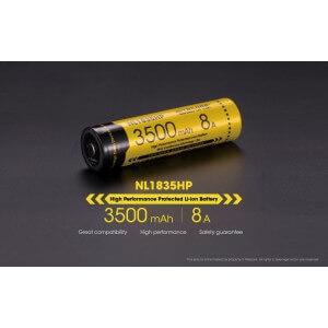Acumulator Nitecore NL1835HP, 3500 mAh
