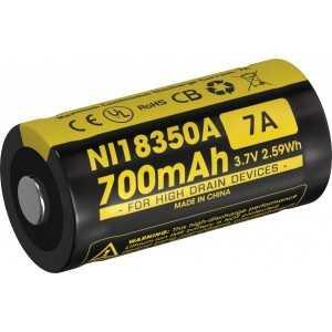 Acumulator Nitecore NI18350A, 700 mAh