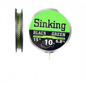 Fir înaintaş textil SINKING BLACK-GREEN, 10 m