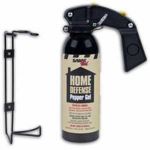 Spray autoaparare Sabre Home Defense Pepper gel 368G + suport